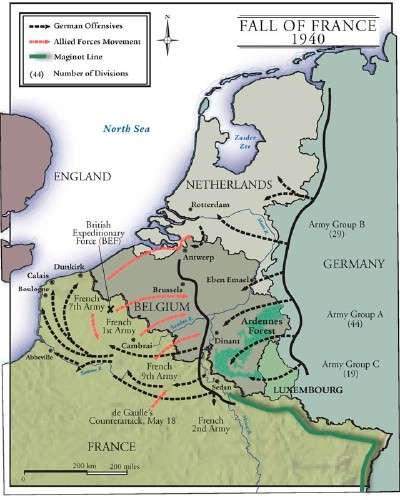 Fall Of France Wwi Map Map Of Germany And France Map Of - Map of germany and france